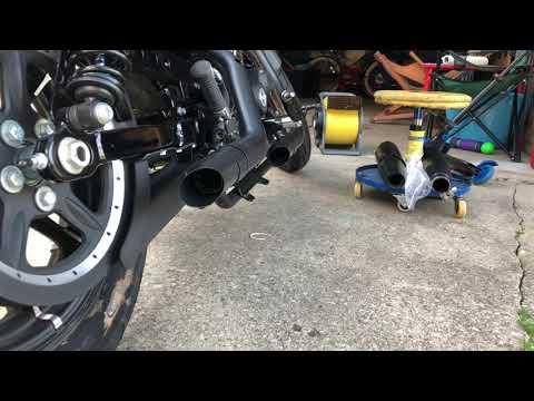 GP series for HARLEY DAVIDSON SPORTSTER 1200 BLACK SLIP-ON YORK Shorty exhaust