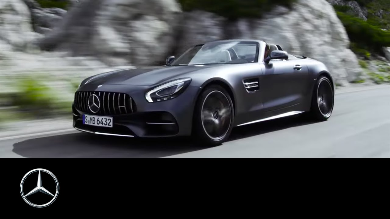 medium resolution of mercedes amg gt c roadster 2016 open top driving performance trailer youtube