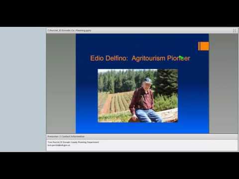 Agritourism Webinar #3 - The Rules: Tom Purciel, El Dorado County