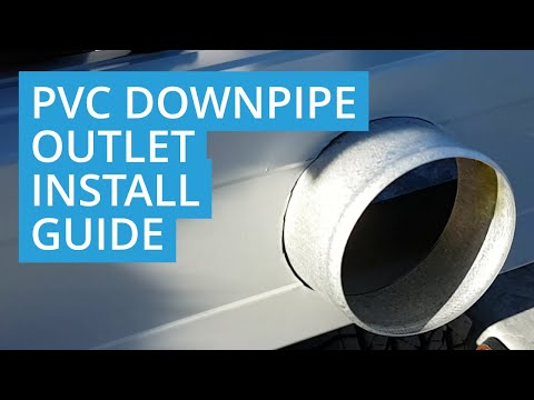 How to Install a Downpipe Outlet for PVC Pipes