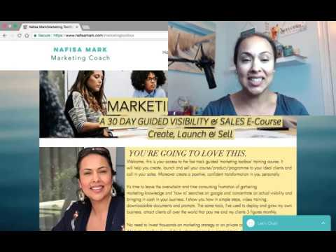 Marketing Toolbox - 30 days guided visibility and sales ecourse