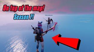 Get on TOP OF THE MAP glitch in Fortnite Season 7 (New) Fortnite Glitches Season 7 PS4/Xbox one/PC