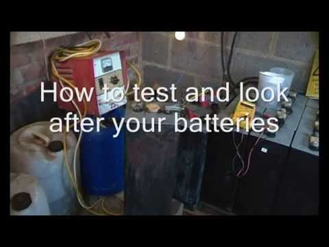 Battery care, charging and reconditioning, equalising charge on lead acid batteries.