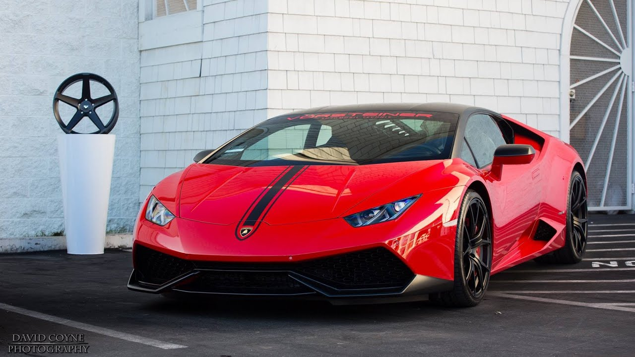 Vorsteiner Lamborghini Huracan Red Walk Around Sounds Driving Youtube