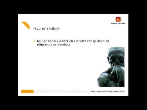 Statens vegvesen - Kurs Vinterdrift 2016 -  Kapittel 2 .1 HMS