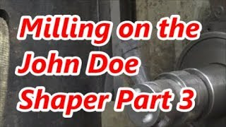 Machining a machine Tool back to Spec Part 3