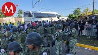 Guardia Nacional y migrantes africanos se enfrentan en Chiapas