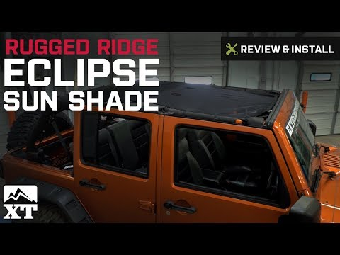 Jeep Wrangler Rugged Ridge Eclipse Sun Shade (2007-2016 JK) Review & Install