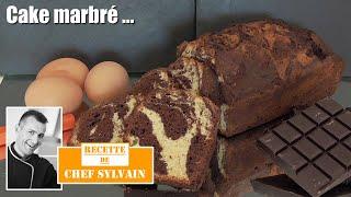Le cake marbré par Chef Sylvain - Recettes de pâtisserie