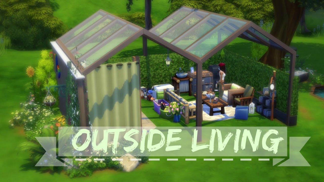 THE SIMS 4 SPEED BUILD   Outside Living
