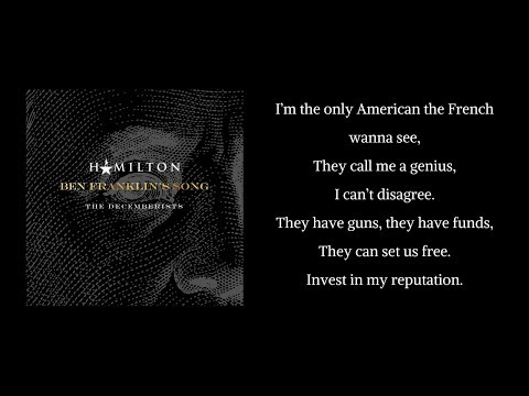 LYRICS to newest Hamilton song, Ben Franklin's Song [no audio, audio link listed]