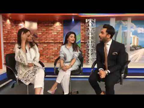 Pakistani Super Star Sohai Ali Abro In Geo Pakistan For  Upcoming Movie Motaorcycle Girl