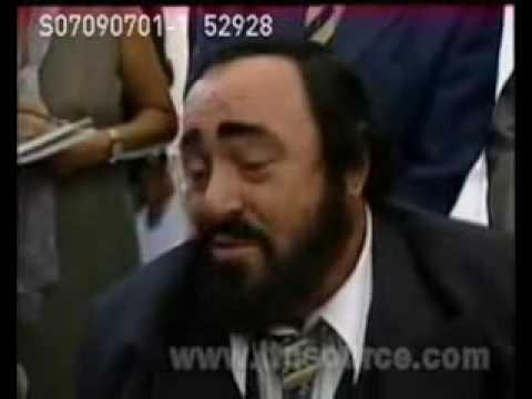 Fun Luciano Pavarotti interviews