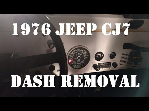 Jeep Dash Removal How I Remove My Dash Jeep CJ7 1976 Quick Overview Video
