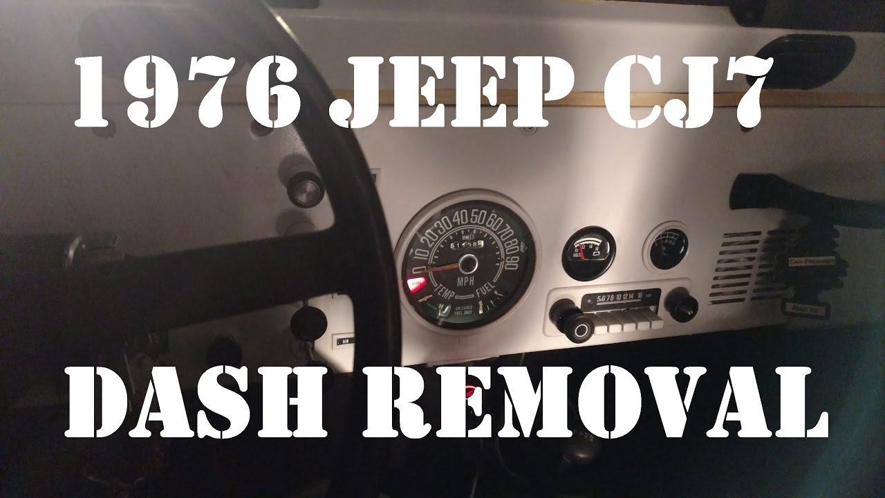 jeep dash removal how i remove my dash jeep cj7 1976 quick overview video [ 1280 x 720 Pixel ]