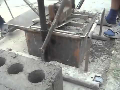 Мини завод по производству шлакоблоков - YouTube