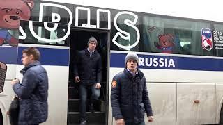 Приезд сборной России U18 на матч ЮЧМ против Чехии