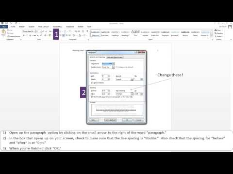 APA Paper Microsoft Word 2013