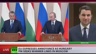 Putin, Orban meet in Moscow, discuss sanctions & refugee crisis