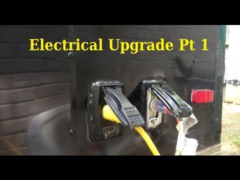 110 Volt House Wiring Diagram Electrical Upgrade Pt 1 6x10 Enclosed Trailer
