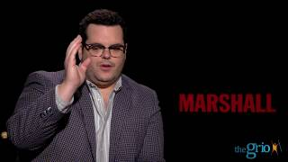 """""""Marshall"""" Star Josh Gad Opens Up About Friendship With Co-Star Chadwick Boseman"""