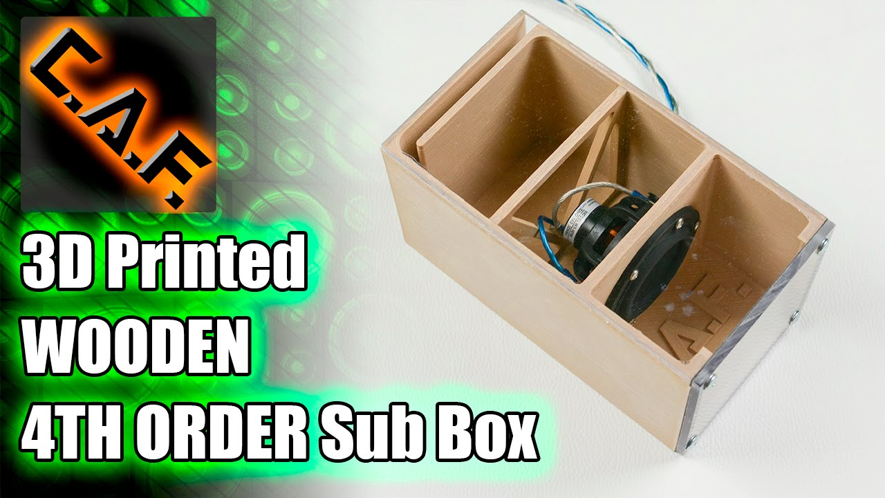3d Printed Wooden Fourth Order Bandpass Subwoofer Box