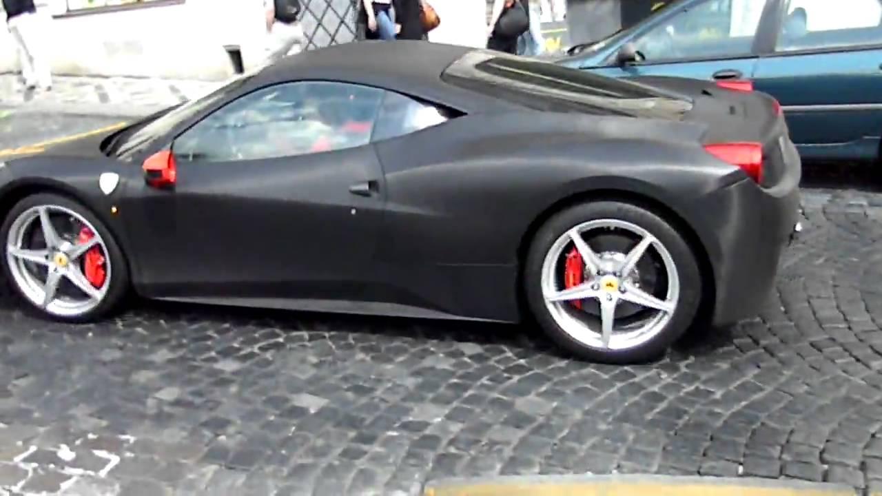 matte black ferrari 458 italia in prague hd youtube - Black Ferrari 458 Italia