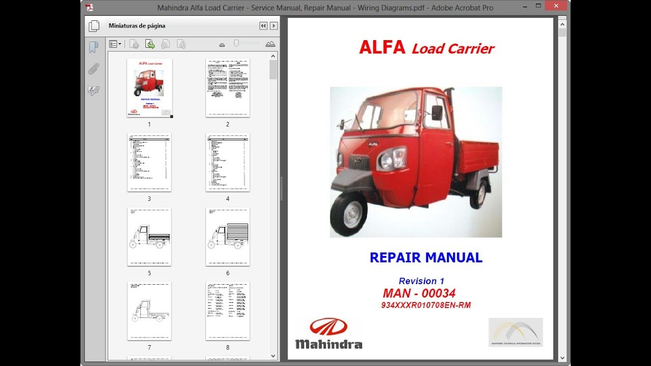 Mahindra Alfa Load Carrier   Repair