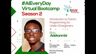 Intro Python Programming for Machine Learning for kids & beginners by Mobolurin (Bolu) Adekanmbi