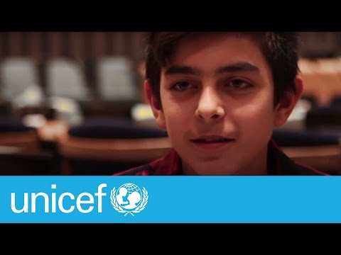 Inspiring teen speaks at UN a year after fleeing Syria | UNICEF