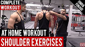 Best SHOULDER EXERCISES to do at HOME