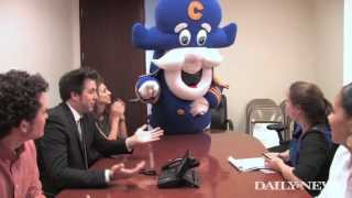 Cap'n Crunch visits the Daily News while promoting his new show