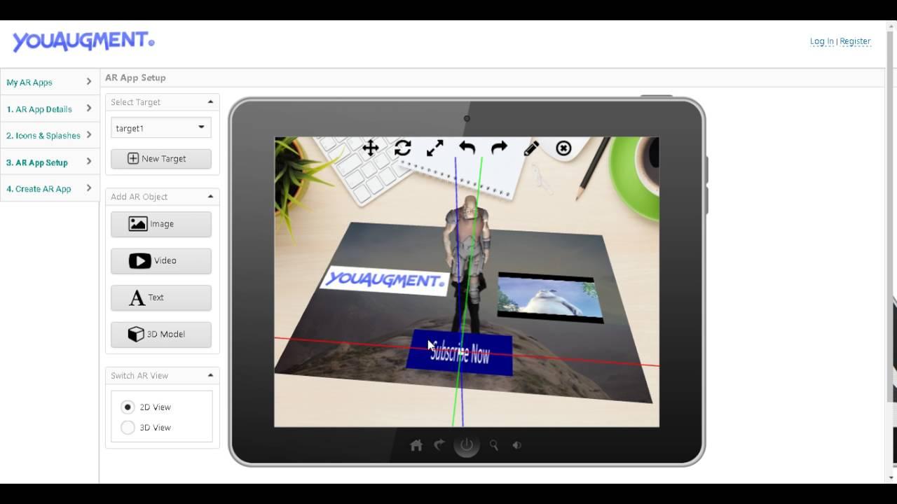 free augmented reality app creator youtube