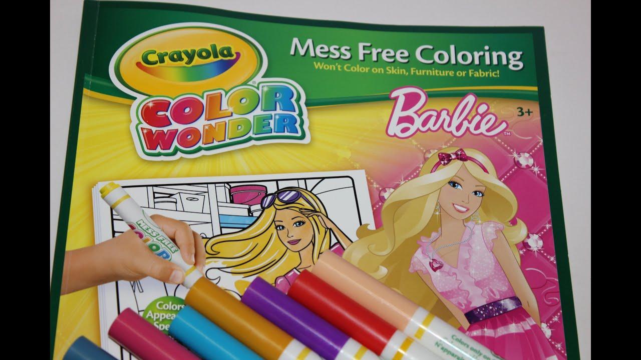 Barbie Surprise!! Crayola Color Wonder #3 - YouTube