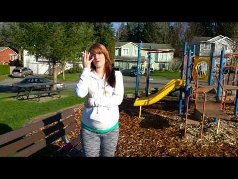 33 weeks pregnant Hannah smokes at the park