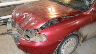 кузовной ремонт капота hyundai. body repair.(дела давно минувших дней... этим слайдам не один год, просьба не судить строго и не спрашивать о цене ремонта,..., 2015-12-16T18:16:13.000Z)