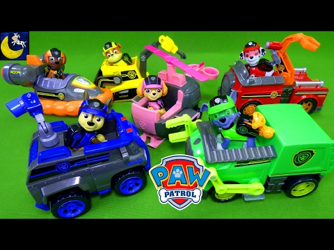 NEW Paw Patrol Mission Paw Toys Full Size Theme Mission Pup Vehicles Chase Marshall Rubble Skye Zuma
