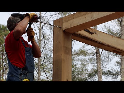 S1 EP53 | WOODWORK | TIMBER FRAME BASICS | DAY TWO BUILDING THE CABIN