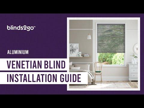 Blinds 2go 25mm Aluminium Venetian Blind Installation Guide - Type 1