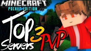 Top 3 Servers de PVP Para Minecraft PE 0.13.1 - 1v1 2v2 e Muito Mais ! Best Servers PVP MCPE !