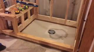 shower pan with bench