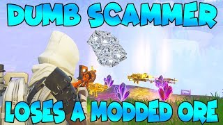 Dumb Scammer Loses Modded Ore! (Scammer Gets Scammed) Fortnite Save The World