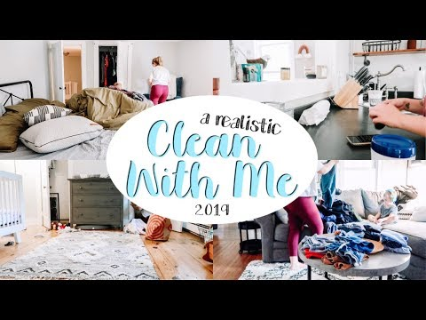 CLEAN WITH ME 2019 [What It ACTUALLY Looks Like To Clean With 2 Toddlers]
