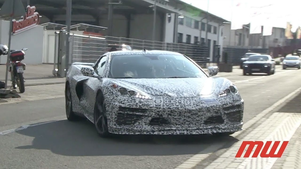 2020 Mid Engine Chevrolet Corvette Spy Footage Youtube