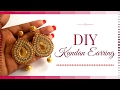 How to Make Kundan Jewellery at Home Easy party Wear earrings making tutorial BY Maya Kalista