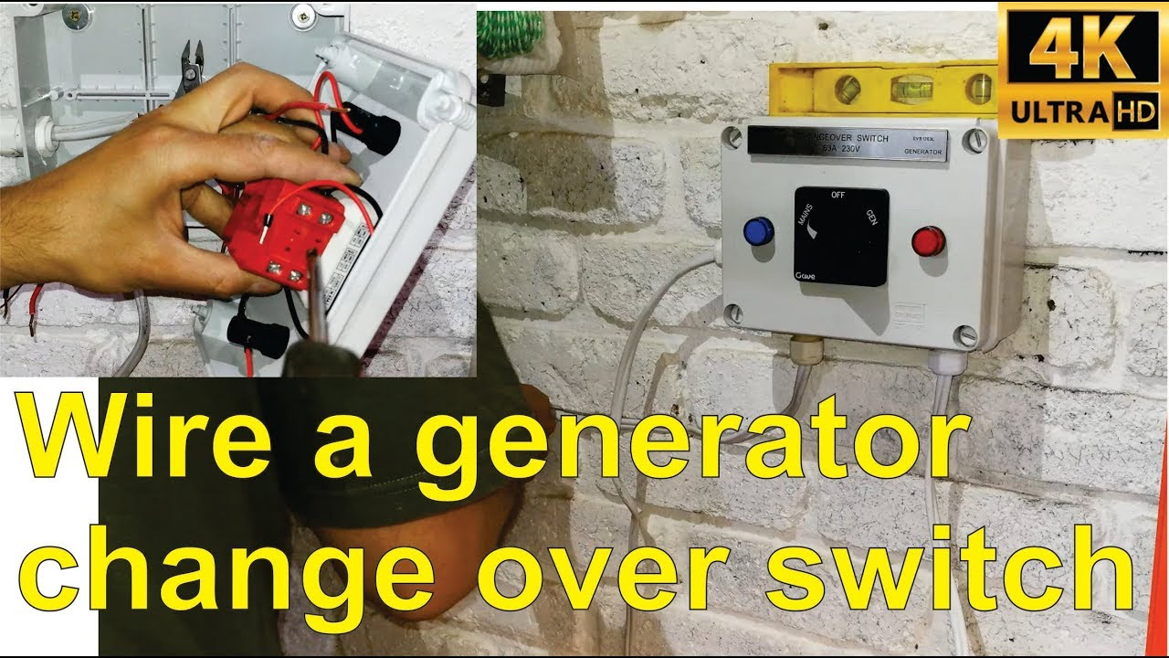 how to wire a generator change over switch step by step  [ 1280 x 720 Pixel ]