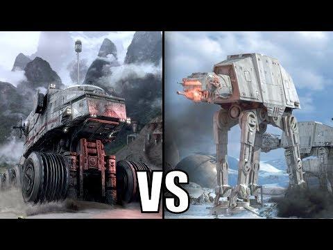 Republic Juggernaut vs Imperial AT-AT Walker - Star Wars Versus