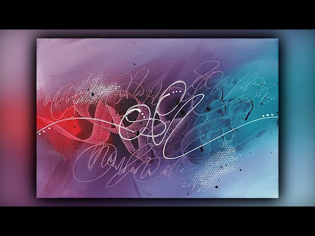 Colorful Abstract Painting / Satisfying / Acrylics / Color Shaper / Demo #105