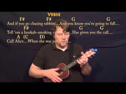 White Rabbit (Jefferson Airplane) Ukulele Cover Lesson with Chords/Lyrics