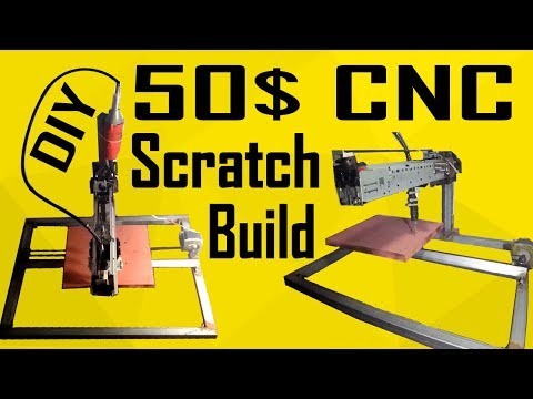 CNC Build From Scratch for 50$ | x-carve Inspired | MakerMan